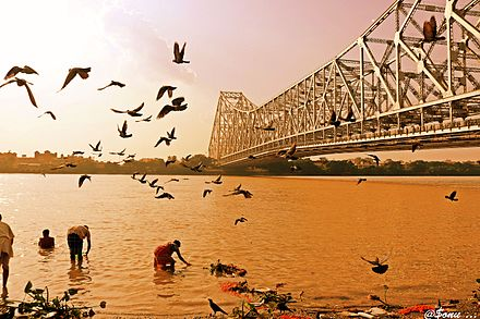 Howrah Bridge from the western bank of the Ganges Howrah Bridge from the western bank of the Ganges.jpg