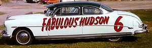 1952 NASCAR Grand National Series - a Hudson Hornet, outfitted for racing, circa early 1950s