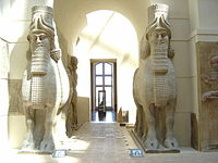Human-headed Winged Bulls Gate Khorsabad - Louvre 01a.jpg