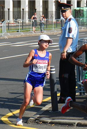 Kim Hye-song (runner) - Image: IAAF World Championships Moscow 2013 marathon women 14 AZ (9483624729) Copy
