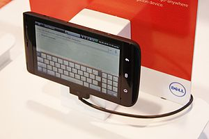 Phablet - The Dell Streak received mixed reviews for its large size and dated software despite its pioneering design.