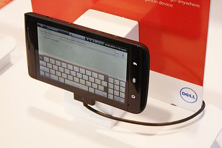 The Dell Streak received mixed reviews for its large size and dated software despite its pioneering design. IFA 2010 Internationale Funkausstellung Berlin 57.JPG