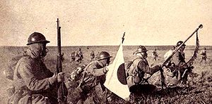 Jiangqiao Campaign - Japanese infantry advances in Manchuria after the Mukden Incident