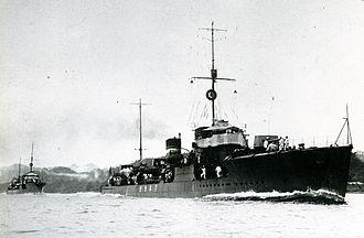 Japanese destroyer Akikaze - Image: IJN Akikaze departing Yokosuka Taisho 12