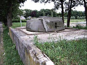 Ram tank - A Ram encased in the Dutch IJssel Line, still present in 2007