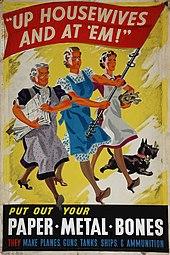 Manifesto di propaganda bellica statunitense rivolto alle casalinghe