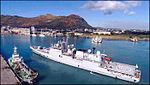 INS Teg entering Port Louis after towing MCGS Valiant.jpg
