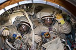 ISS-54 EVA-2 Alexander Misurkin and Anton Shkaplerov during spacesuit fit check.jpg