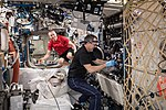 ISS-56 Drew Feustel and Ricky Arnold work in the Destiny lab (1).jpg