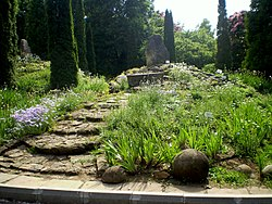 Small rockery in the Iai Botanical Garden, Romania