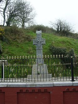 Cross commemorating where Michael Collins, leader of the National Army, was killed in August 1922.