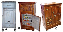 Icebox - Wikipedia on ice chest hinges and latches, bed cabinet, bar cabinet, electric cabinet,