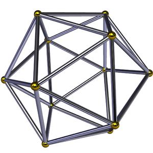 6-orthoplex - Image: Icosahedron frame