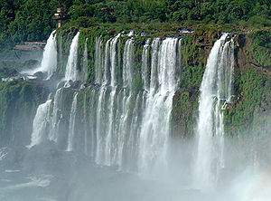 The Amazing Race 2 - Iguaçu Falls in the southern state of Paraná in Brazil was the focal point of this entire leg of the race.