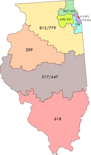 Area code 708 Area code for southern suburbs of Chicago, Illinois