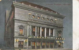 Theater in Chicago - Illinois Theatre, Chicago, Illinois, c.1909