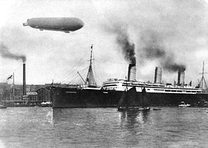 SS Imperator - Imperator in Hamburg, 1913