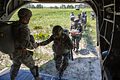 Indian and U.S. paratroopers load a CH47 Chinook helicopter for a training jump in 2013.jpg