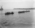 Indian troops cross the Pangani 1916.png