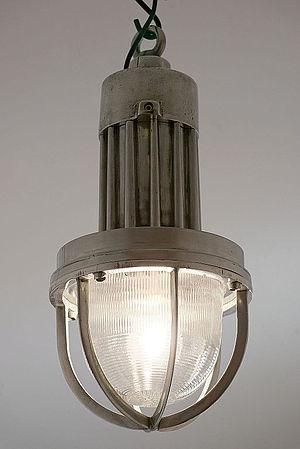 Holophane - Vintage industrial Holophane pendant light