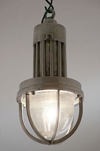 Holophane - Vintage industrial Holophane pendant light