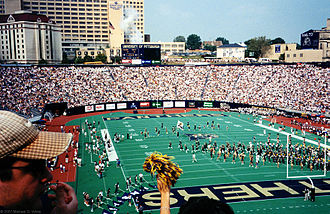 Pitt Stadium - View from southwest corner in 1998