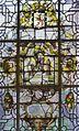 Interieur, pandhof, glas-in-loodraam- titel- Albertus, Jozef en Franciscus - Boxmeer - 20365328 - RCE.jpg