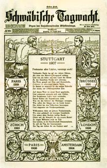Bildergebnis für internationaler sozialistenkongress stuttgart 1907