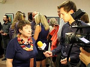 Belsat TV - Image: Interview of Belarusian Art critic Larisa Finkelshtein to Belsat TV 01
