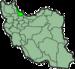 موقعیت  استان گیلان در ایران.