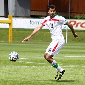 Steven Beitashour - Beitashour playing for Iran in a friendly match against Angola, May 30, 2014