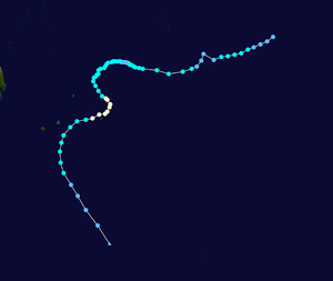 1972–73 Australian region cyclone season - Image: Ivy Beatrice 1972 track