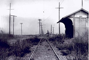 Ivy Substation - Power from the substation served Ivy station (now Culver City station) and surrounding tracks until 1953.