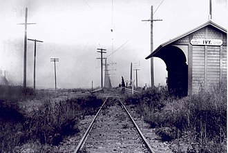Culver City station - Station location c. 1905, looking east.