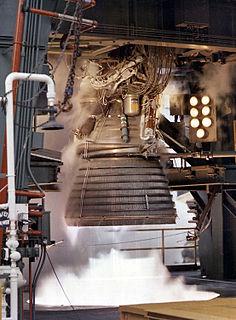 Rocketdyne J-2 cryogenic rocket engine by Rocketdyne