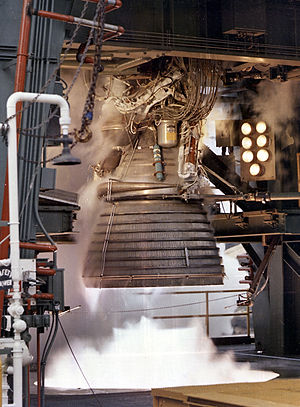 Rocketdyne J-2 - J-2 test firing.