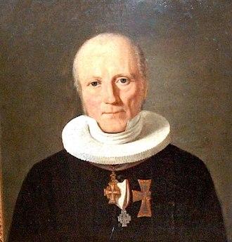 Jacob Peter Mynster - Bishop Jacob Peter Mynster. Portrait by Constantin Hansen.