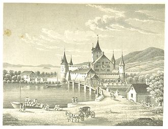 Nidau - General view of Nidau (c1850)