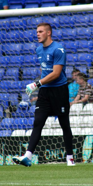 Jack Butland - Butland with Birmingham City in 2012