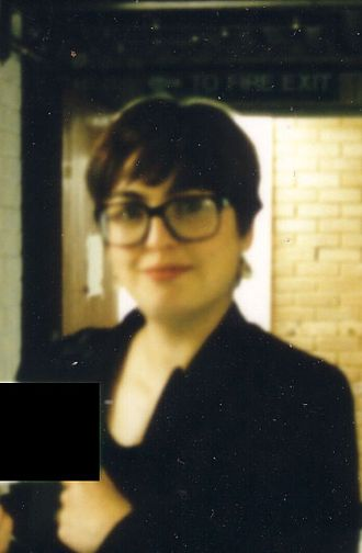Jackie Hatfield - Jackie Hatfield at Kent Institute of Art & Design in about 1993.