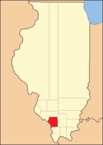 Jackson County, Illinois - Image: Jackson County Illinois 1818