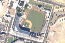 alt=Description de l'image Jacksonville Baseball Ground satellite view.png.