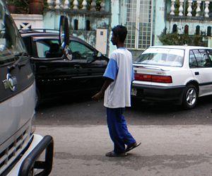 Valet boy - A valet boy at Puduraya district, Kuala Lumpur