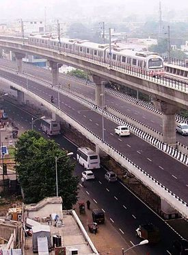 Jaipur Metro on Double Storey.jpg