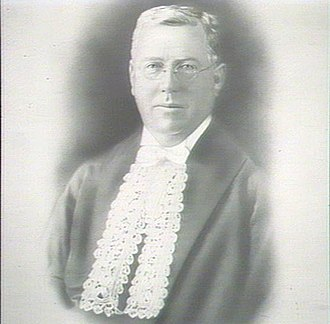Speaker of the New South Wales Legislative Assembly - James Dooley (1925–1927) as Speaker, wearing the Labor variation of the dress.