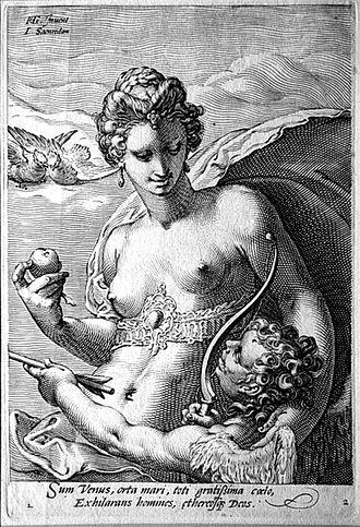 Jan Saenredam - Venus and Cupid
