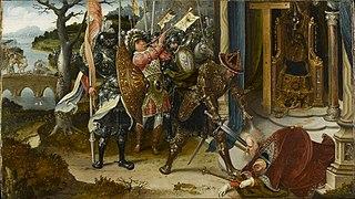 Heraclius decapitating Khosrow II