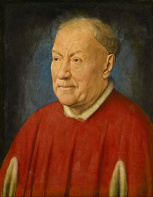 Portrait of Cardinal Niccolò Albergati - Image: Jan van Eyck Kardinal Niccolò Albergati Google Art Project
