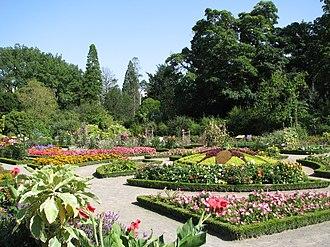 Parc de la Tête d'or - The floral garden, a part of the park's large botanical garden