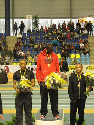 Jaysuma Saidy Ndure - Jaysuma Saidy Ndure (middle) on the podium in Ghent